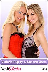 DeskBabes - Victoria Puppy and Susane Barts - Duo