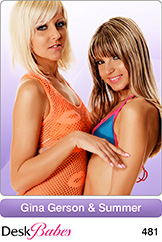 DeskBabes - Gina Gerson and Summer - Duo