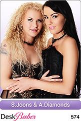 DeskBabes - Samantha Joons and Angel Diamonds - Duo